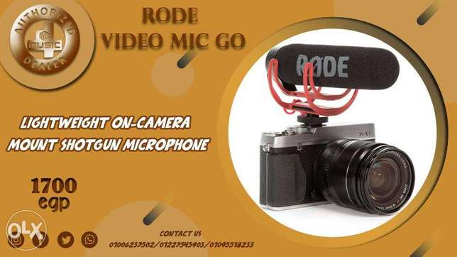 Rode VideoMic GO Camera-Mount Shotgun Microphone