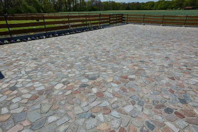 Genialny Kamień polny cięty płomieniowany łuany kostka granitowa bruk AW35