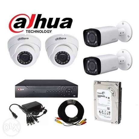 Dahua 4 channel CCTV set 1080p 2mp with heavy duty siamese cabl