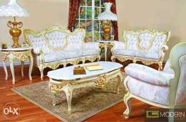 Egyptian Designed Antique Sofas(with antique coffee table)