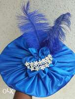 Stylish& Adorable Royal blue hair fascinator