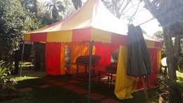 Tent colorful 6m by 6m