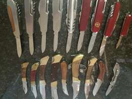 Collection of knives .18 in total . R15 EACH BULK DEAL