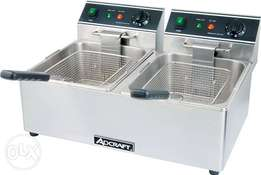 Double deep fryer double basket frier