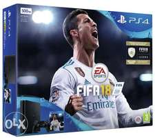 New PS4 with one year warranty and fifa 18 for 33,999
