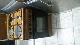 Ramtoms electric cooker with electric Oven 2 gas banner and 2 electric