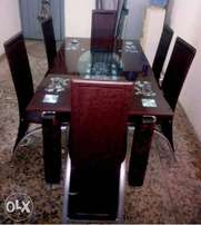 ZS Exotic Dining table with six chairs