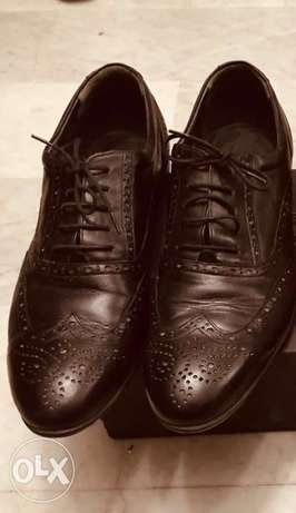 flat real leather shoes english pattern size 44