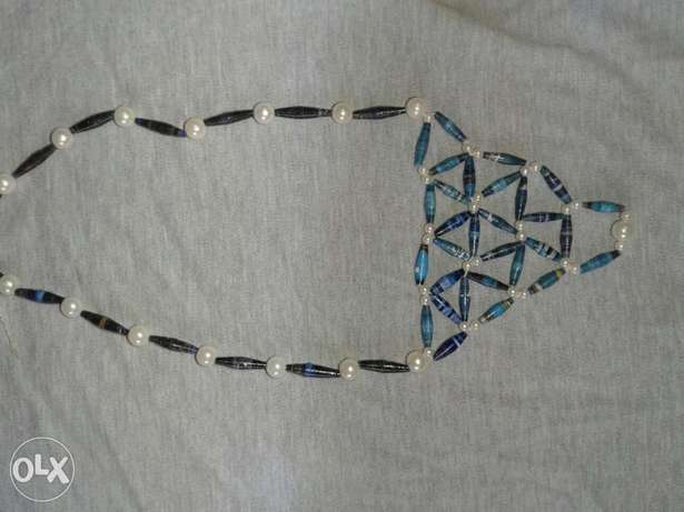 Paper bead and pearl necklace Kasarani - image 4