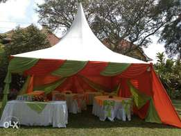 Taste our best services in tents,chairs,tables and decor