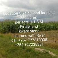 land for sale_located at Olkalau from nyahururu Fertile land Next to a river Kware stone