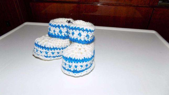616c1ddeaeff74 В'язане взуття для немовлят (пінетки), на хрестини: 90 грн. - Дитяче ...