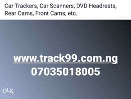 Car Trackers, Car Scanners, DVD Headrests, etc.