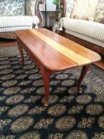 Solid Meranti Queen Anne Coffee Table. Solid & Sturdy.