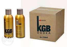 KGB VODKA 750ml ×6