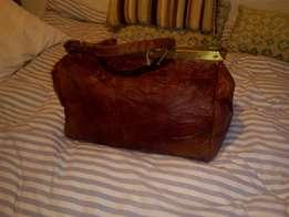 Leather med sized luggage ba , onboard luggage vintage