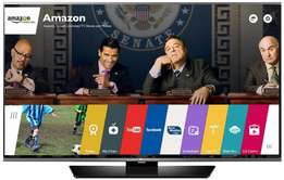 High contrast images of the LG 65 smart webos satellite UHD tv