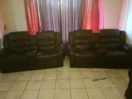 4 recliners with cup holders