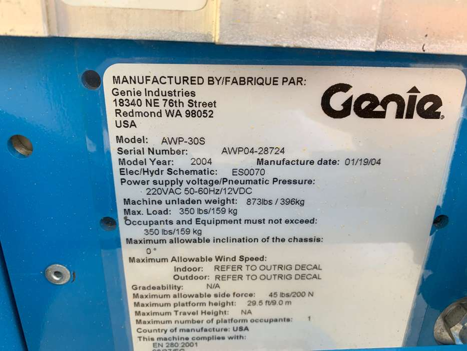 Genie AWP 30 DC - 2004 - image 6