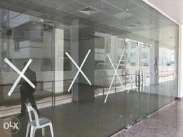 Office glass partitions. حاجز زجاجي