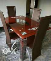 Durable imported glass dining table