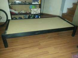 Black Single bed including matrass