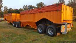 2014 AFRIT Bottom Dumper Grain Link Trailer