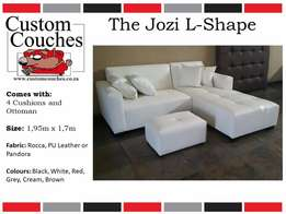 Showroom Open Today at Custom Couches - The Jozi L Shape R3950