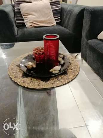 Centretable decorative candle holder with table matt