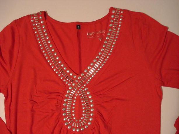 Na święta Nowa Długa Tunika Sukienka Czerwona Rozmiar 3638