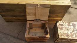 Small pallet woodbox