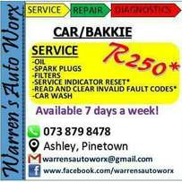 Auto repairs, service and diagnostics, 7 days a week