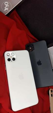 %i phone 12 pro max? 64 giga black and white كفر شكر -  1