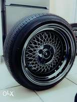 Set of Jnc 15 inch 8.25j with tyres