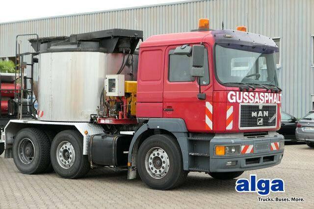 MAN 26.463/kolberg asphaltkocher/anhanger/hatz - 1997