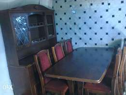 Dining Suite. Incl, Unit, Table+6 Velvet Solid Wood Chairs, R6500. 00.