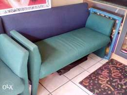Blue and green couches