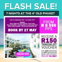 Flash Sale!! Thailand from R8990.00 per person sharing