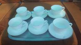 China tea set white