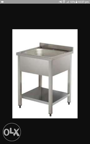 Ss sink table stainless steel work
