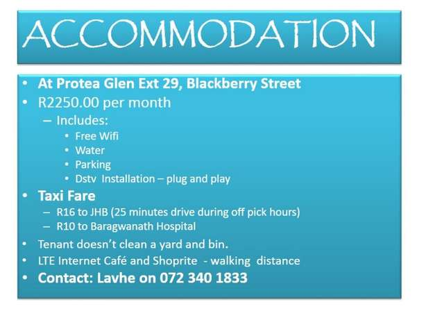 Accommodation available NOW Soweto - image 1