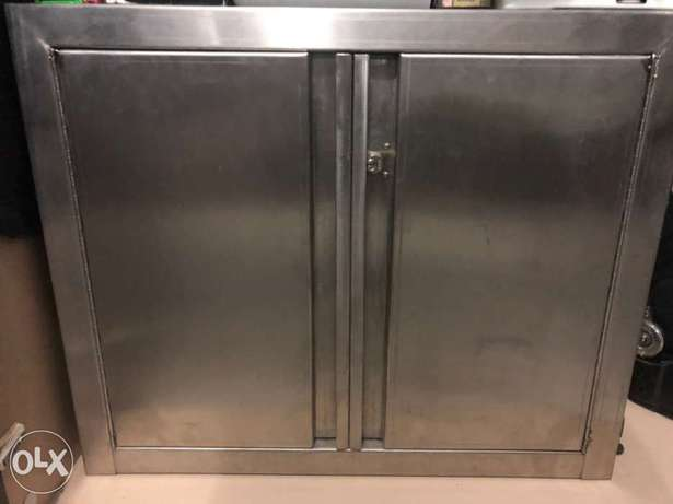 stainless steel lockable cupboard / safe