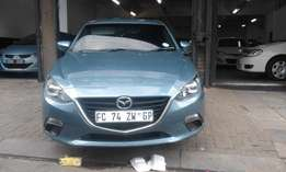 Mazda3 hatshback lite blue in color 2015 model 23000km R125000
