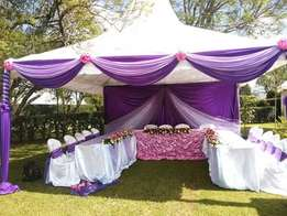 tents, decor, and entertainment services