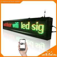 "Moving Message Display (96""by 16"" in Length)"