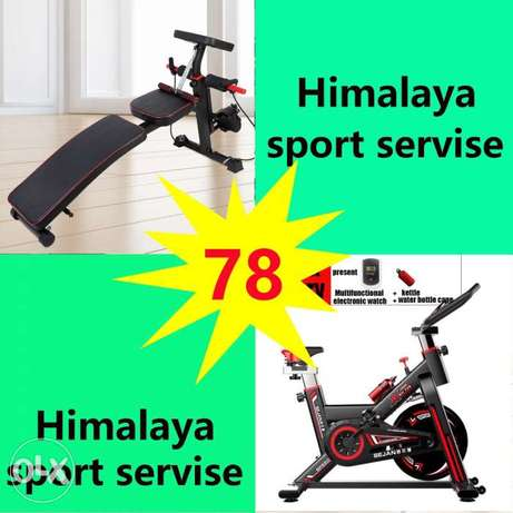 New cycle+exercise bench gym in home