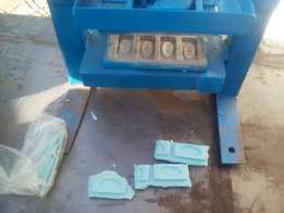 Manual soap tablets production