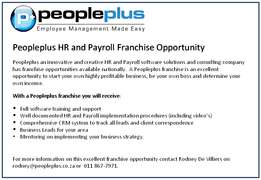 Peopleplus HR and Payroll Franchise Opportunity