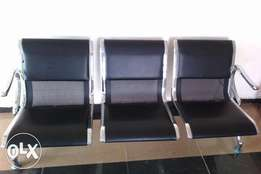 Quality 3in1 Visitors Chair Black Leather