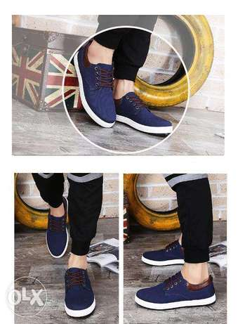 2017 new canvas shoes for men blue Nairobi CBD - image 3